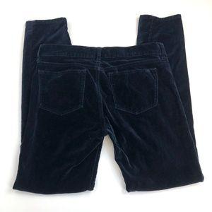 J Crew Toothpick Velvet Pants 26 (Act 30W 27.5L)